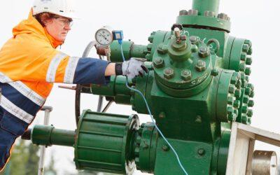 Arbeiten an zwei Erdgasbohrungen des Altmark-Feldes