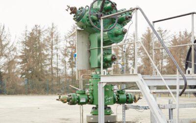 Wartungsarbeiten an zwei Erdgasbohrungen im Altmark-Feld