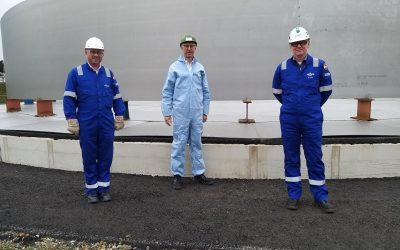 Bürgermeister Helmut Höke besucht Neptune Energy